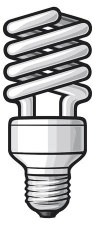 risparmio energetico: lampadina a risparmio energetico di luce Vettoriali