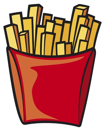 fatty: french fries Illustration