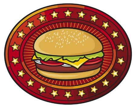 gourmet burger: hamburger