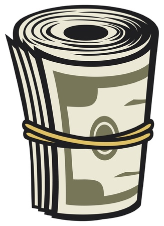 Bank Roll  Money roll  Stock Vector - 15039365