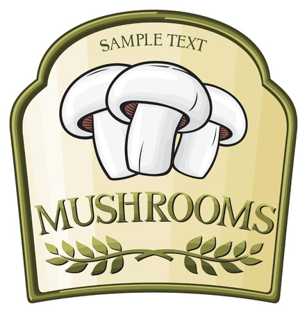 food poison: mushroom label design