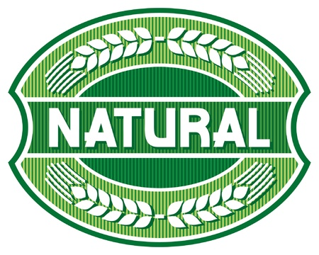 natural label  natural seal, natural symbol  Stock Vector - 15039375
