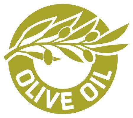 olive leaf: etiqueta de oliva aceite de oliva rama, etiqueta del aceite de oliva, aceite de oliva insignia Vectores