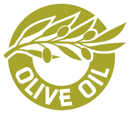 olive oil label  olive branch, olive oil sticker, olive oil badge Stock Vector - 15039829