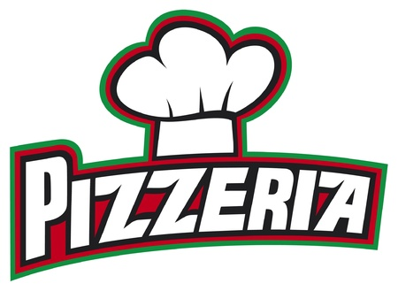 mozzarella cheese: pizzeria label design