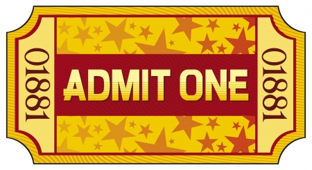 circus ticket: admit one ticket Illustration