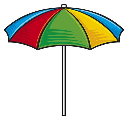 beach umbrella: illustration of colorful beach umbrella
