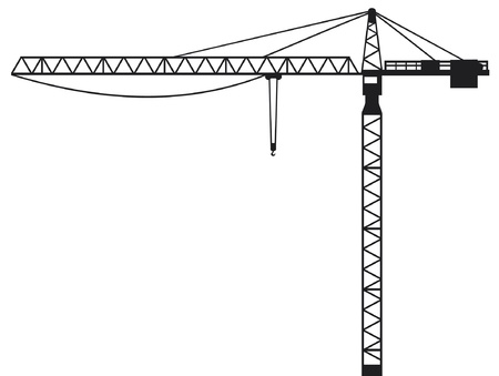 heavy construction: Crane  building crane, tower crane  Illustration