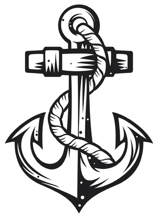 nautical vessels: Anchor Illustration