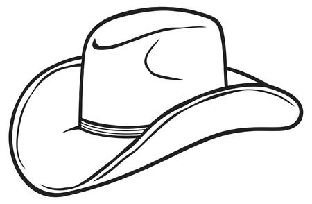 sombrero de vaquero Ilustración de vector