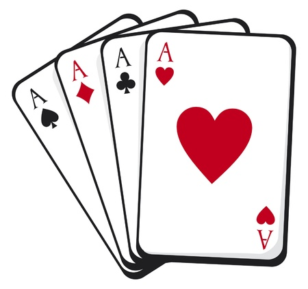 card suits symbol: four aces