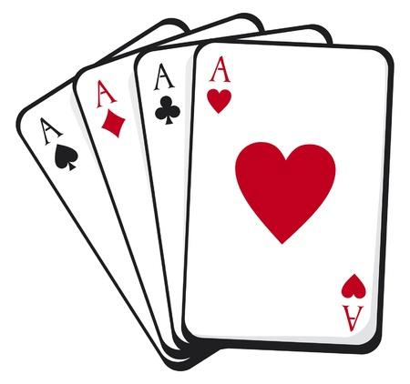 kartenspiel: vier Asse
