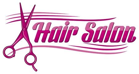 Salon strzyżenie włosów wzór lub symbol salon fryzjerski