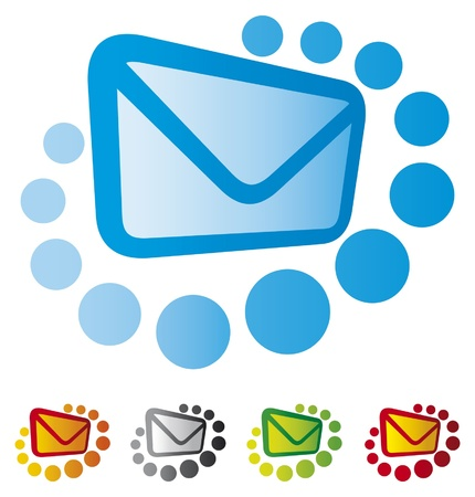 email icons: Mail icon set