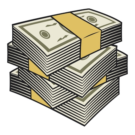 Gran pila de dinero