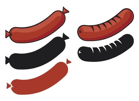 chorizos asados: salchichas