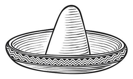 mexican sombrero: sombrero messicano cappello Vettoriali