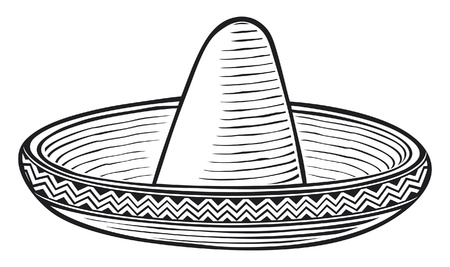 mexican cartoon: sombrero  mexican hat