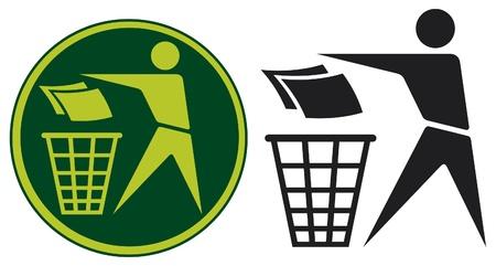 Recycling Sign  Recycling Sign Label, Recycling Sign Button Icon  Vector