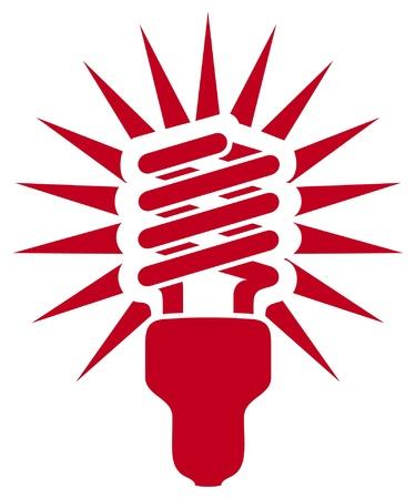 effizient: Energieeinsparung Gl�hbirne Illustration