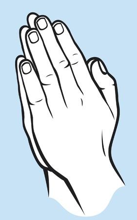 Betende Hände Illustration der Hände zum Gebet gefaltet