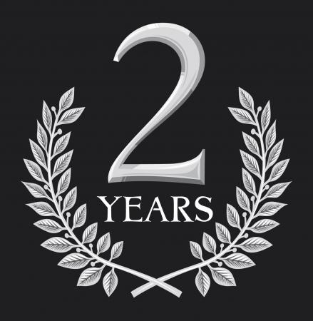 aniversario: corona de laurel 2 a�os aniversario, jubileo