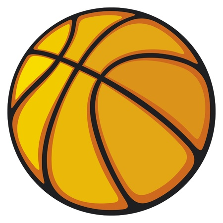 hoop: basketball ball Illustration