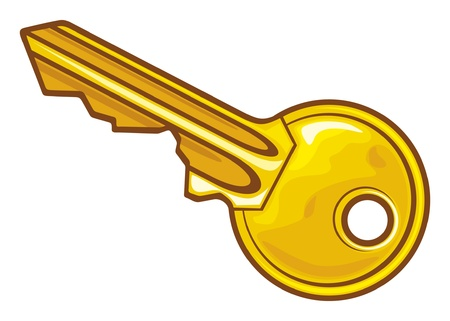 puertas abiertas: Ilustración Key Vectores