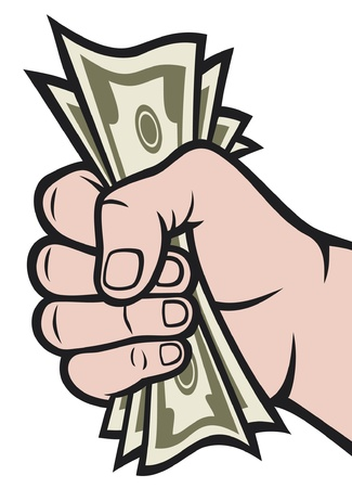cartoon money: Money in the hand  Hand with money, Hand holding Banknotes