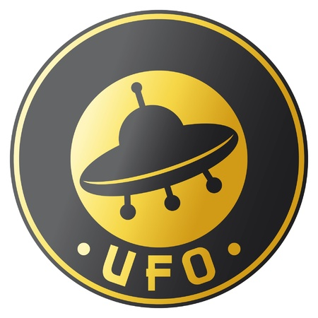 ufo design  symbol, badge, sign  Vector