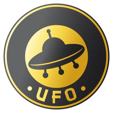 mars: ufo projekt symbol, znaczek, znak Ilustracja