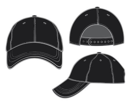 hat with visor: black baseball cap