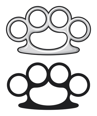 Brass knuckles  weapon, knuckle  Stock Vector - 15099219