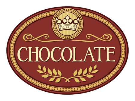 chocolate label Illustration