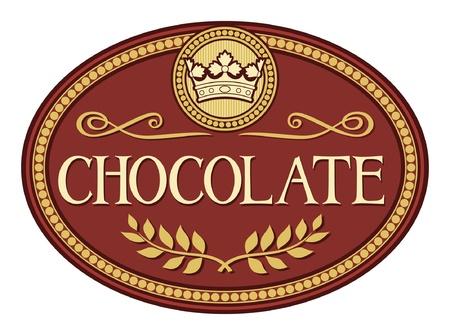 cocoa: chocolate label Illustration