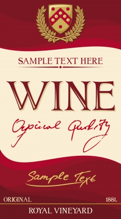 conception d'étiquettes de vin Vecteurs