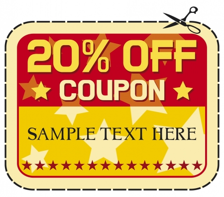 Coupon sale 20    twelve percent discount, discount label  Vector