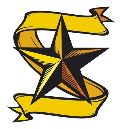 hvězda tetování Ilustrace
