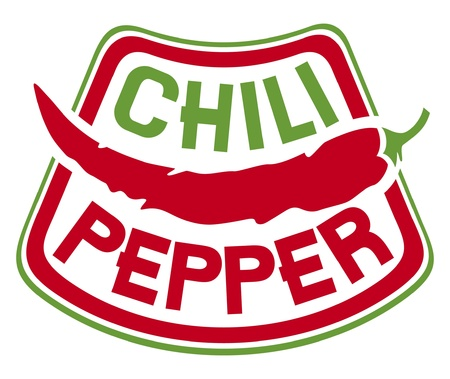 chili pepper label  chili pepper symbol  Vector