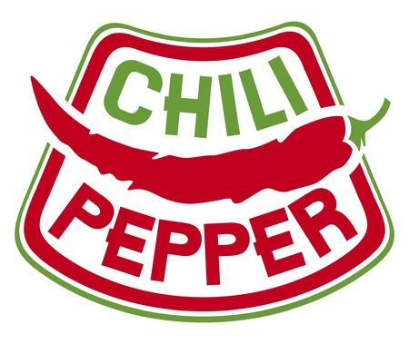 chili pepper label  chili pepper symbol Stock Vector - 15140674