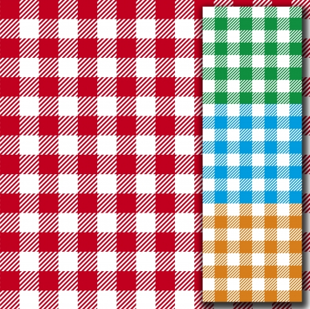 chequered drapery: retro tablecloth texture  seamless fabric pattern background