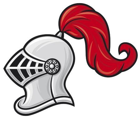 mittelalterlichen Ritterhelm Ritter Kopf im Helm