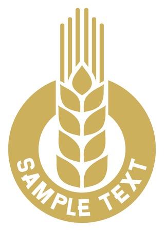 produits céréaliers: signe de blé, de blé insigne, symbole du blé