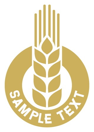 grain field: wheat sign, wheat badge, wheat symbol