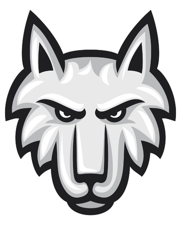 cruel zoo: Vector illustration of wolf face  wolf head