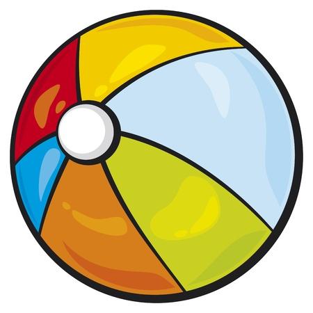 cartoon beach: beach ball