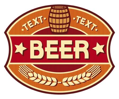 beer label: beer label design Illustration