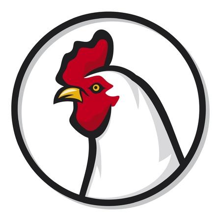 gallo: jefe de la cabeza del martillo gallo Vectores