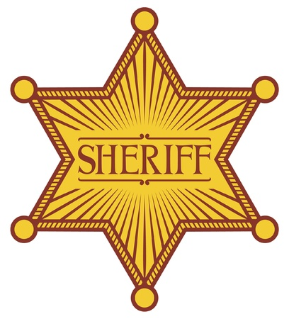 deputy sheriff: sheriff s star  sheriff badge, sheriff shield  Illustration