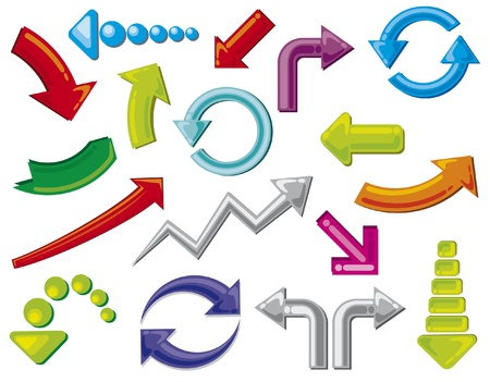arco y flecha: flechas iconos (flechas set iconos)